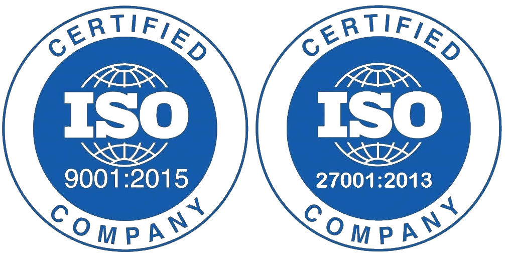 ISO 9001 and ISO 27001 Certified Company